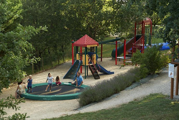 Sfeervol park met alle voorzieningen